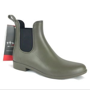 Cougar Celeste Rain Booties Olive Forest Green